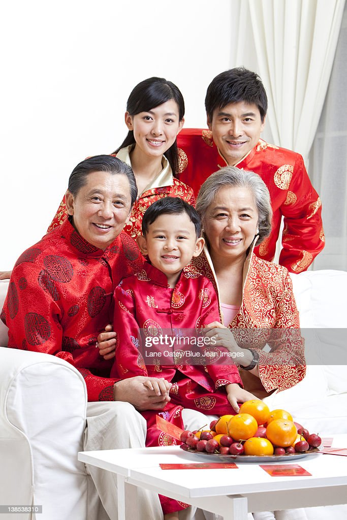 Asian Family Celebrate Chinese New Year Stock Image ...