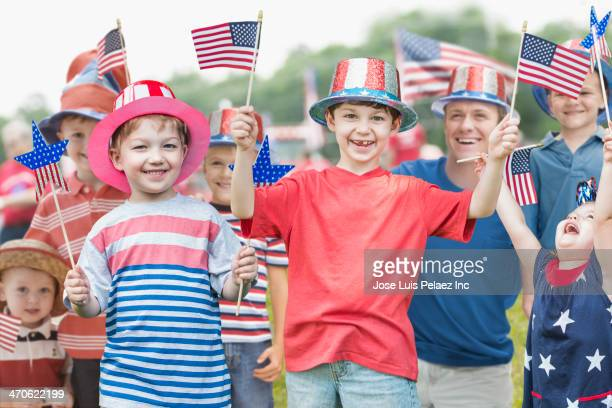 Family celebrating Independence Day together