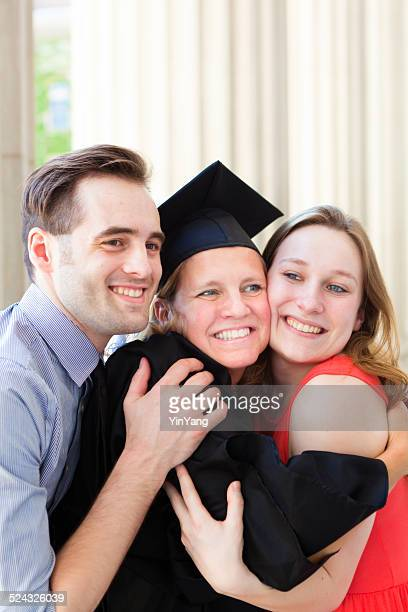 Family Celebrating Mother's Graduation from University Higer Degree