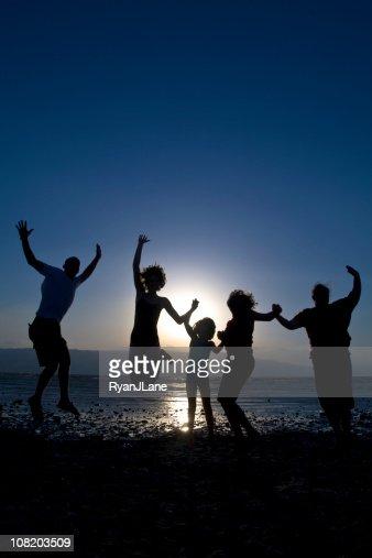 Family Celebration at the Beach : Stock Photo