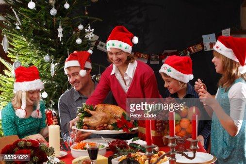 Family christmas dinner : Stock Photo