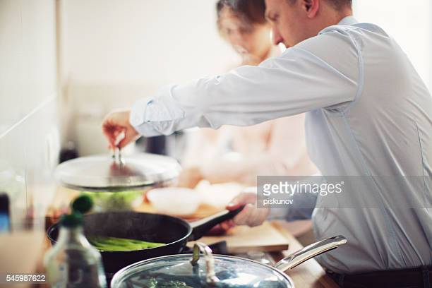 Family Cooking Food