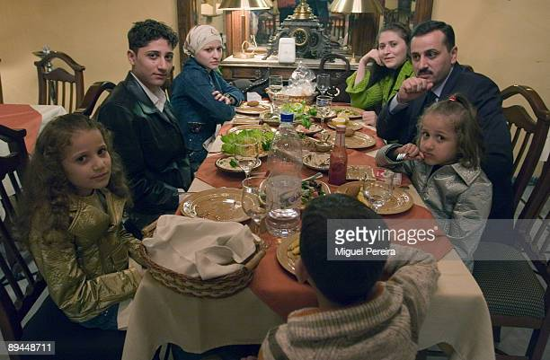 Family dinner in a luxurious restaurant in the Damascus Christian zone