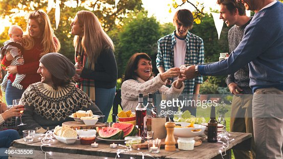 Family Dinner in the Garden