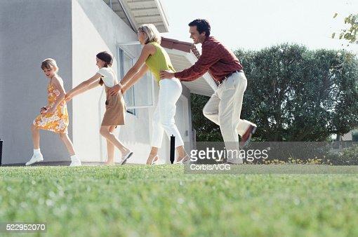 Family doing the Conga
