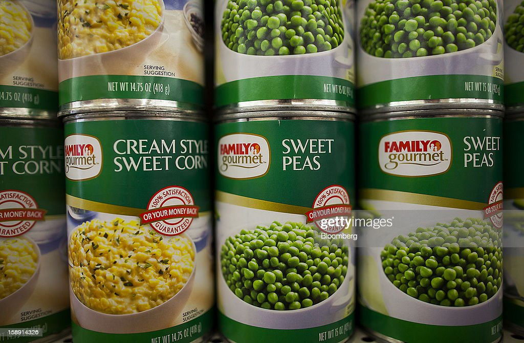 Family Dollar Stores Inc. brand sweet corn and sweet peas are displayed at a store in Belleville, New Jersey, U.S., on Thursday, Jan. 3, 2013. Family Dollar Stores Inc., the second-largest U.S. dollar store chain, tumbled the most in more than 12 years after cutting its fiscal 2013 earnings forecast, saying consumers are reluctant to spend on more-profitable discretionary items. Photographer: Michael Nagle/Bloomberg via Getty Images