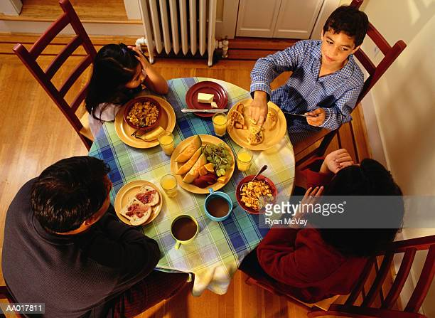 Family Eating Breakfast Together