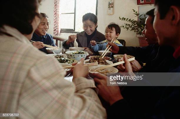 Family Eating Dinner Together, China