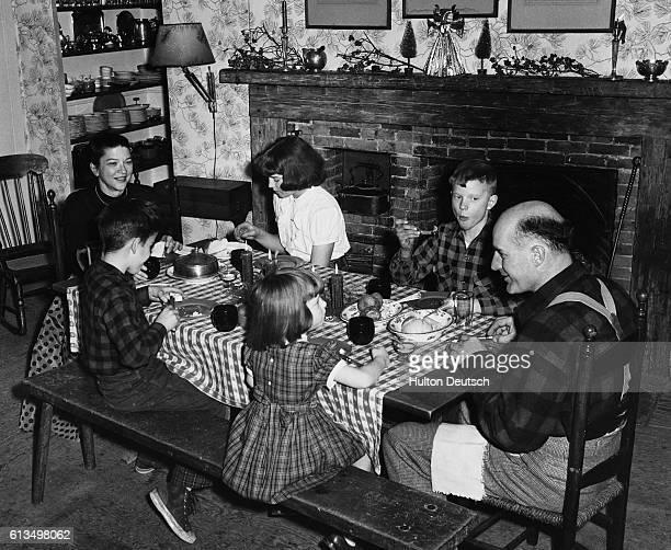 Family Enjoy Festive Meal