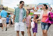 Family enjoying amusement park