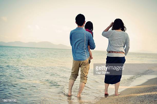 Family enjoying day out on beach