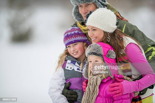 Family Enjoying Nature in the Winter