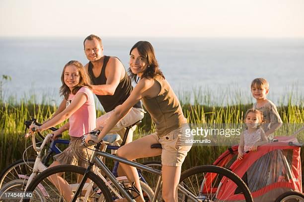 Family enjoying the beautiful day