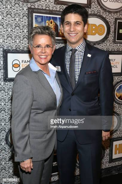 Family Equality Council's Gabriel Blau and actress Amanda Bearse attend Family Equality Council's annual Los Angeles awards dinner at The Globe...