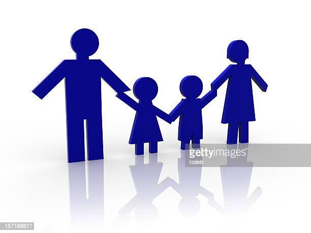 Familie: Vater, Mutter und Kinder