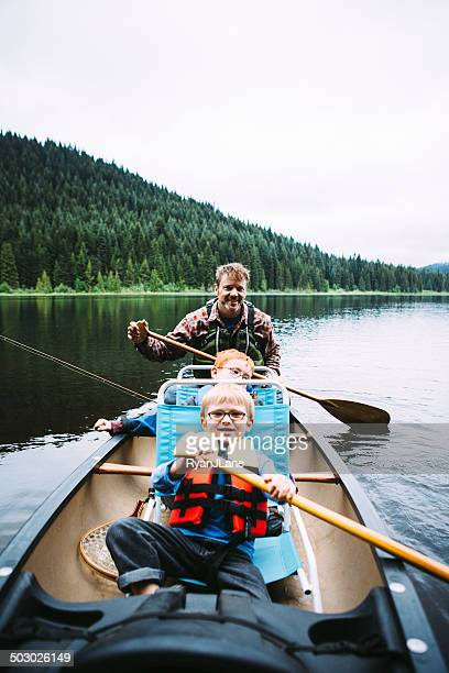 Excursion de pêche en famille