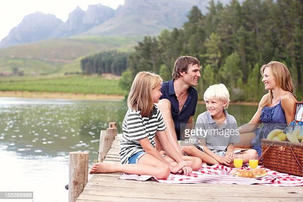 Familie Spaß an der frischen Luft