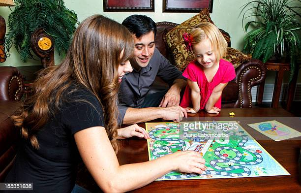 Famiglia gioco notte