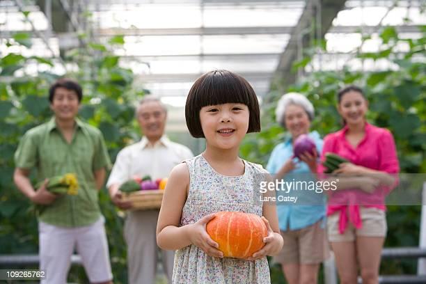 Family gardening in modern farm