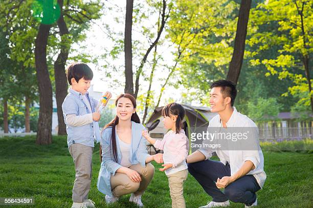 Family Going for an Outing