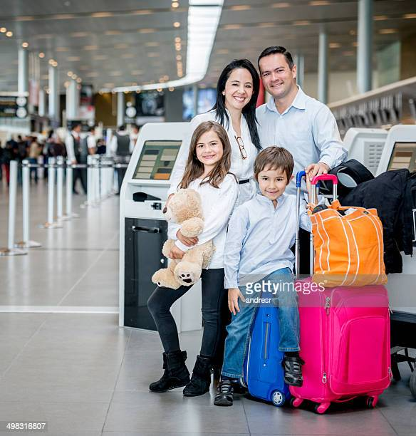 Family going on holidays