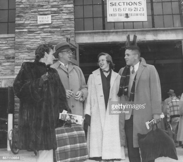A family group at Colorado's first home game of the season were Mr and Mrs George Hayden and their soninlaw and daughter Mr and Mrs Henry Mulvihill...