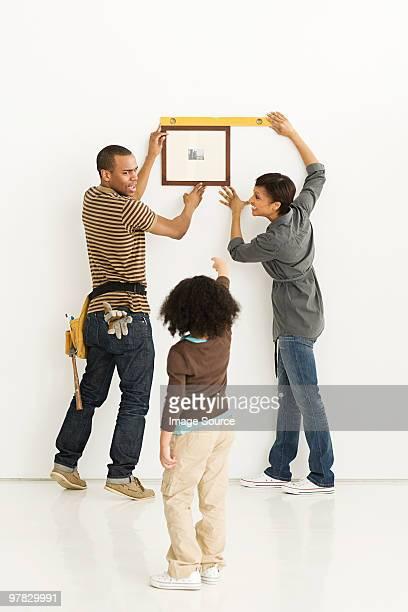 Familie hängen Bilderrahmen