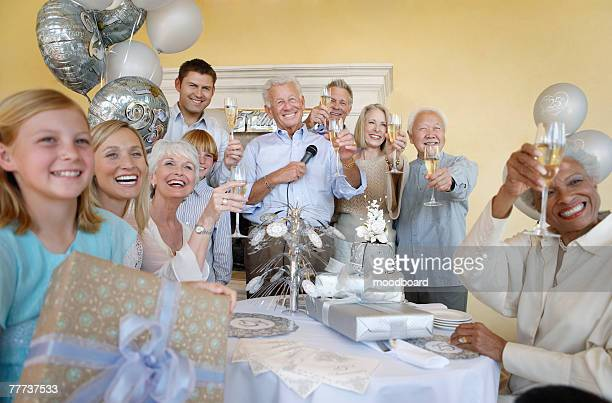 Family Having a Party