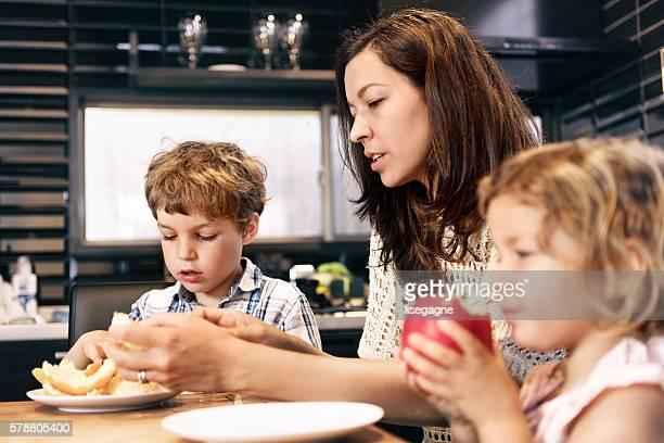 Family having a snack