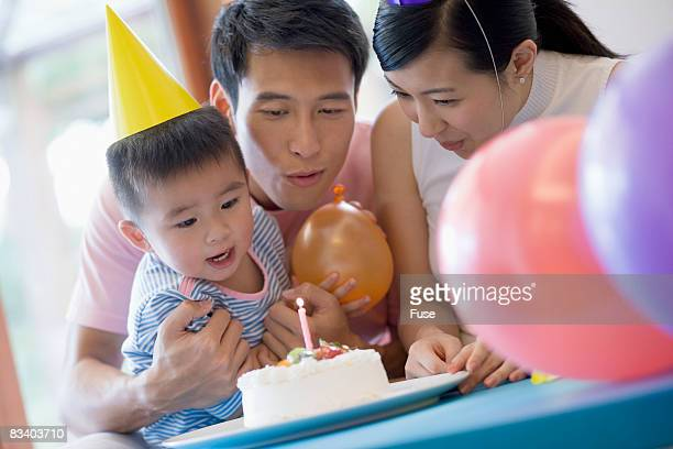 Family Having Birthday Party
