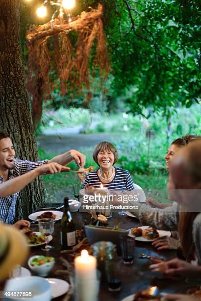 Family Having Fun During Garden Party