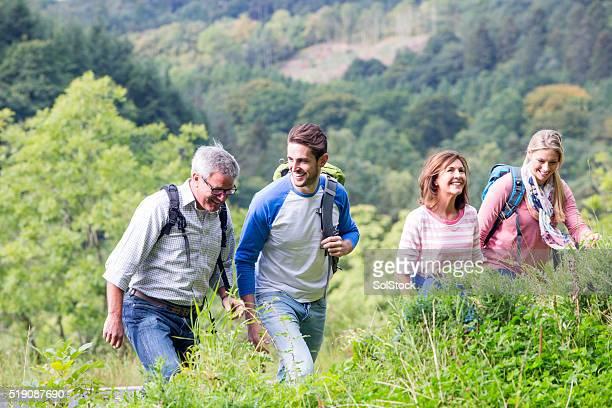 Famille de randonnée