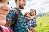 Family hiking, Tyrol, Austria