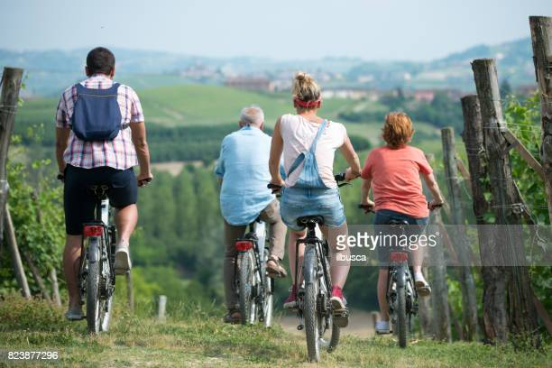 Family holidays in Langhe region, Piedmont, Italy: Electric bikes trip in the hills