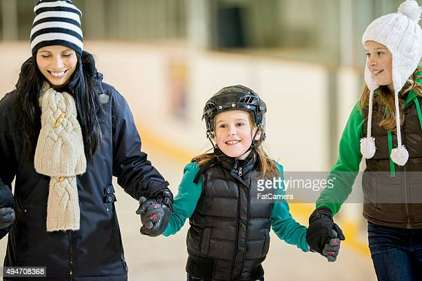 Family Ice Skating Together