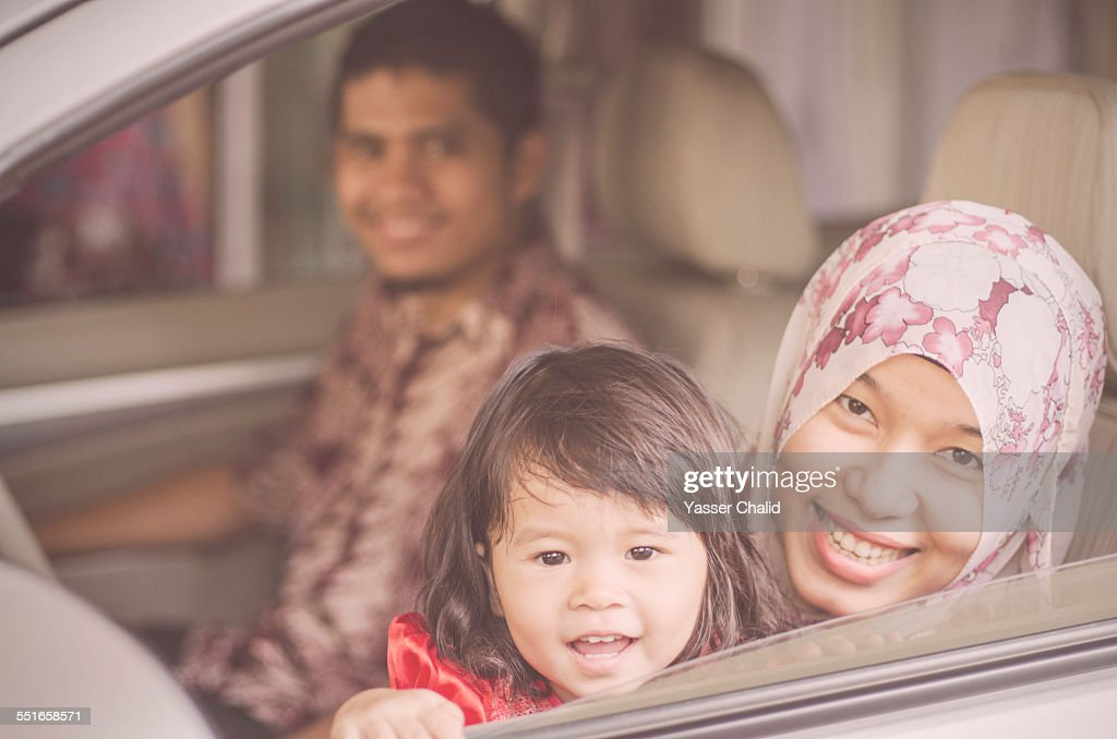 Family In a Car