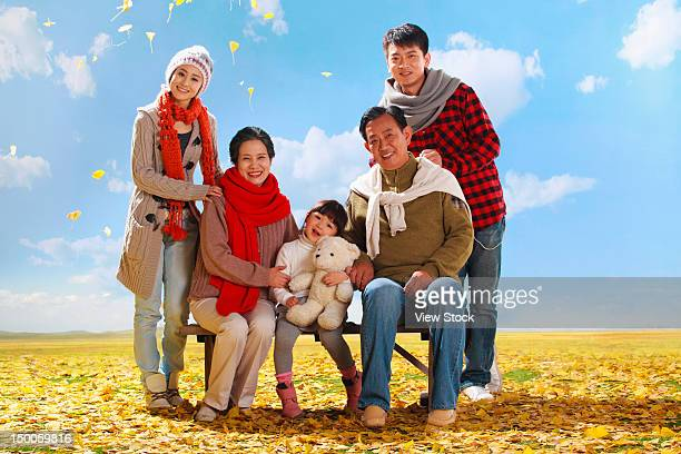 Family in autumn