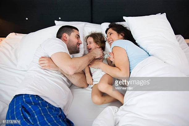 Family in bed