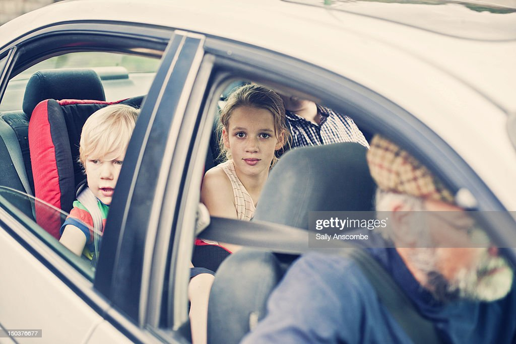 Family in  car : Stock Photo