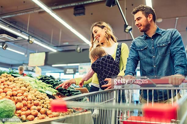 Famille de supermarché Local.