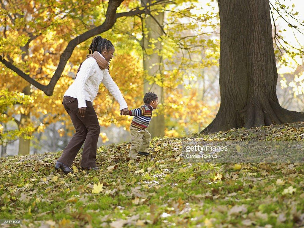 Family in Park : Stock Photo