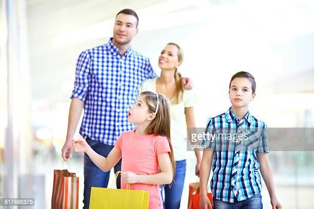 Família de compras.