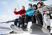Family in Ski Lift