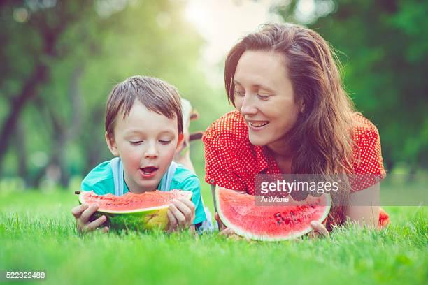 Family in summer