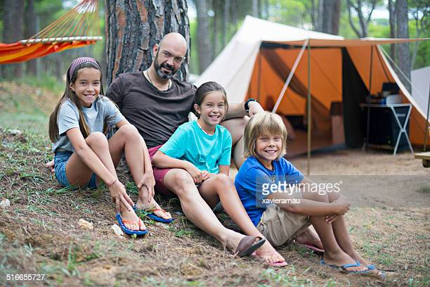 Family in the camping