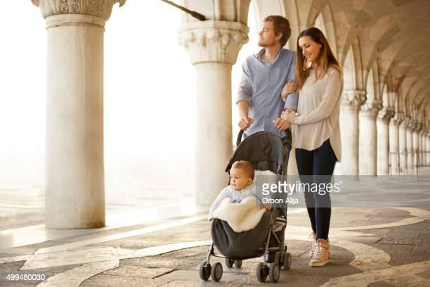 Familia en Venecia