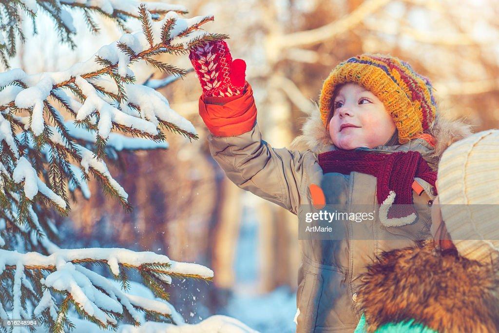 Family in winter : Stock Photo