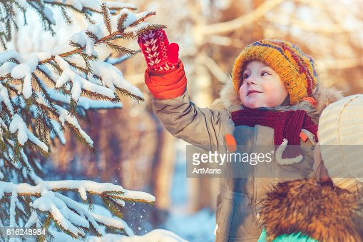 Family in winter : Stock Photo