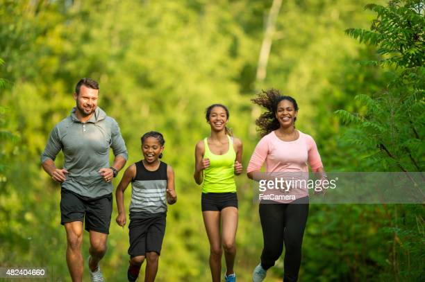 Family Jogging at the Park
