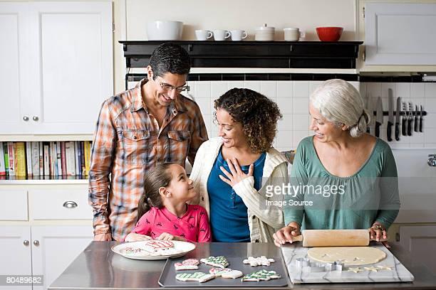 Una famiglia che i cookie